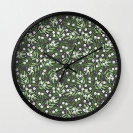 Mistletoe & Snow Wall Clock
