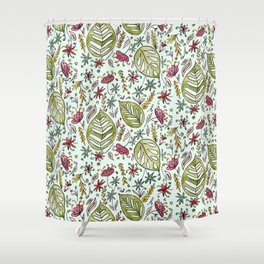 Tropical Rainforest pattern Shower Curtain