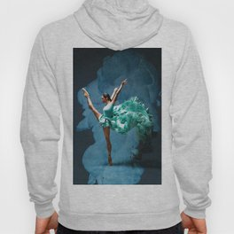 -O1- Blue Ballet Dancer Deep Feelings. Hoody