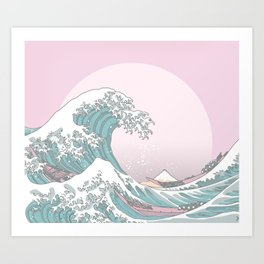 Great Wave Pastel Art Print