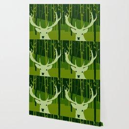 forest deer tree green nature Wallpaper