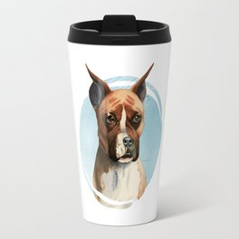 Boxer Dog Watercolor Painting 3 Travel Mug