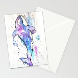 Orca in colors Stationery Cards
