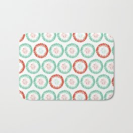 Block Print Circles Bath Mat