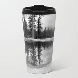 Sun Rays on a Melting Lake Travel Mug