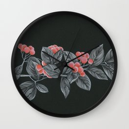 Black Pages II Wall Clock