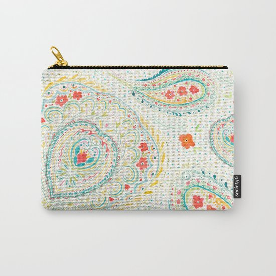 Watercolor Paisley Carry-All Pouch