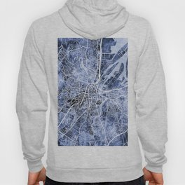 Belfast Northern Ireland City Map Hoody