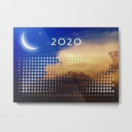 Moon calendar 2020 #3 Metal Print