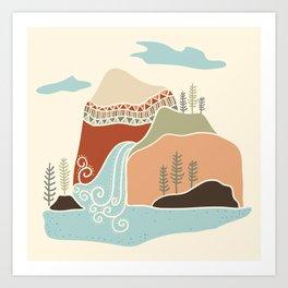 Southwest Mountain Art Print