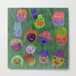 smiley people Metal Print