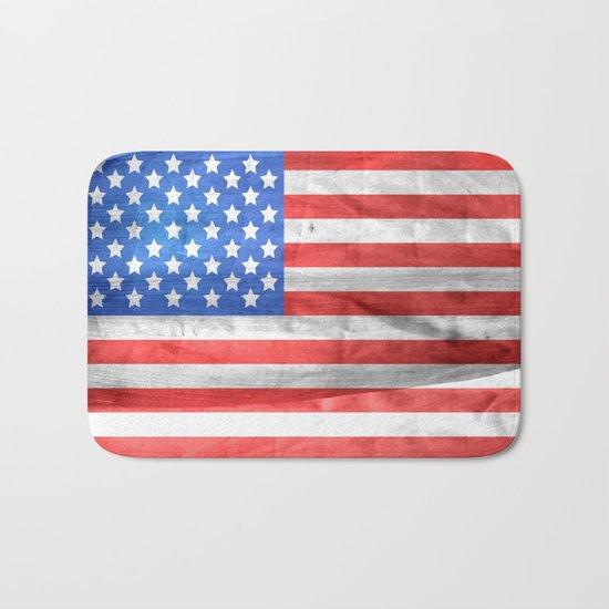American Flag Bath Mat