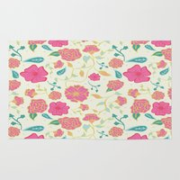 sassy Area & Throw Rugs featuring Sassy Floral by Anna Roybal
