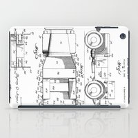 jeep iPad Cases featuring Jeep: Byron Q. Jones Original Jeep Patent by Elegant Chaos Gallery