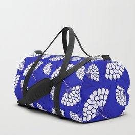 African Floral Motif on Royal Blue Duffle Bag