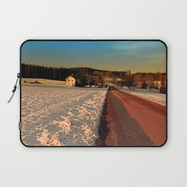 Country road through winter wonderland | landscape photography Laptop Sleeve