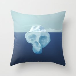 Dying iceberg, the terrible effects of climate change Throw Pillow
