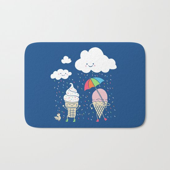 Cloudy With A Chance of Sprinkles Bath Mat