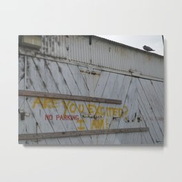 Are You Excited? Metal Print