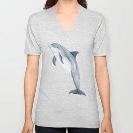 Bottlenose dolphin jump Unisex V-Neck