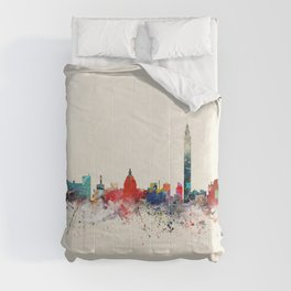 washington skyline Comforters