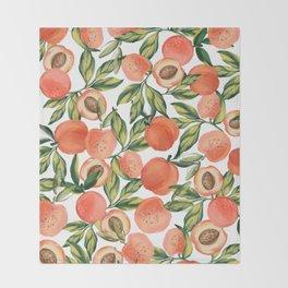 Peach Love Throw Blanket
