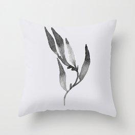 Baesic Mono Floral (Leaf 1) Throw Pillow