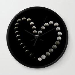Moon Heart Total Lunar Eclipse Wall Clock