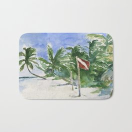 Beach, Tulum, Mexico Bath Mat