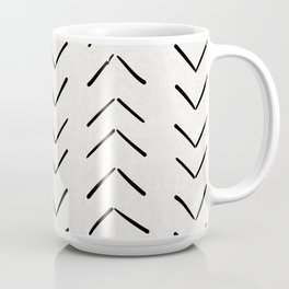 Mud Cloth Big Arrows in Cream Coffee Mug