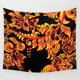 Fire ornament Wall Tapestry