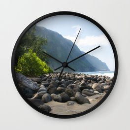The Escape from the Kalaupapa Trail to the Beach Wall Clock