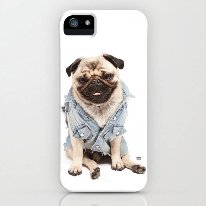 Helmut the Pug - Jean Jacket iPhone Case