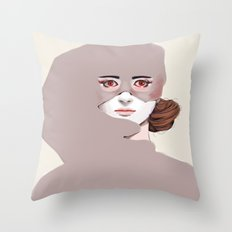 Untitled in Red Throw Pillow