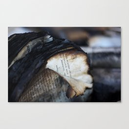 Burned and Blackened Pages Canvas Print