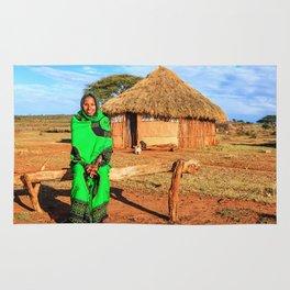 Ethiopian lady Rug