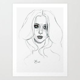 Cheryl getting out of a taxi in 2008 Art Print
