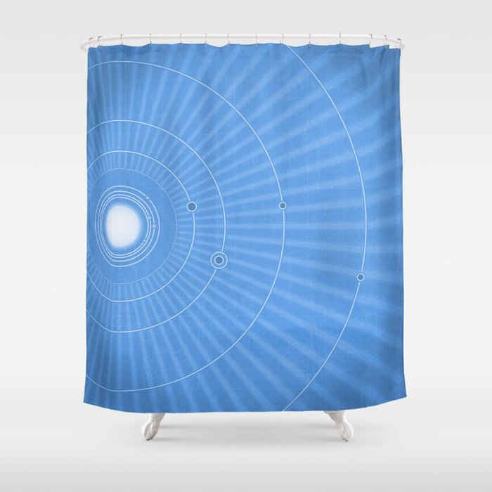 Solar System Cool Shower Curtain