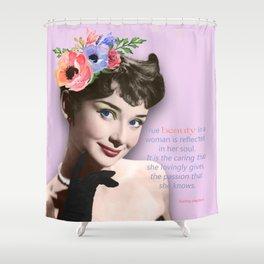 Movie star art - Audrey Hepburn Shower Curtain