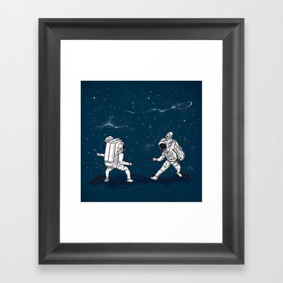 Fencing at a higher Level Framed Art Print
