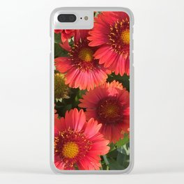 Coral Flowers Clear iPhone Case