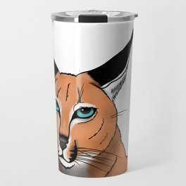 Blue-Eyed Caracal Travel Mug