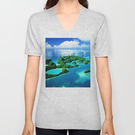 70 Wild Islands Palau Unisex V-Neck