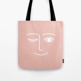 Wink / Pink Tote Bag