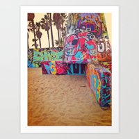 Venice Graffiti Art Print