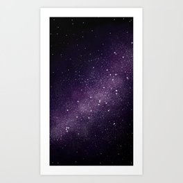 Puple Galaxy Art Print