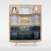 roman Shower Curtains featuring roman art by EnglishRose23