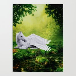 Pegasus By The Stream Poster
