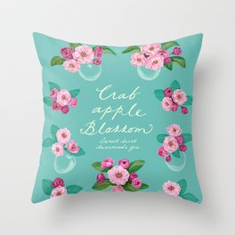Crabapple Blossom Throw Pillow
