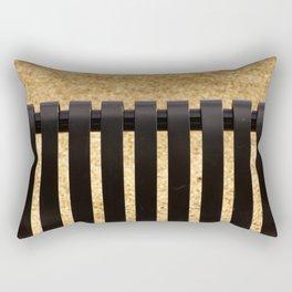Grillage au #parc Rectangular Pillow